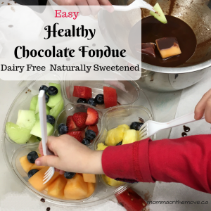 healthy chocolate fondue