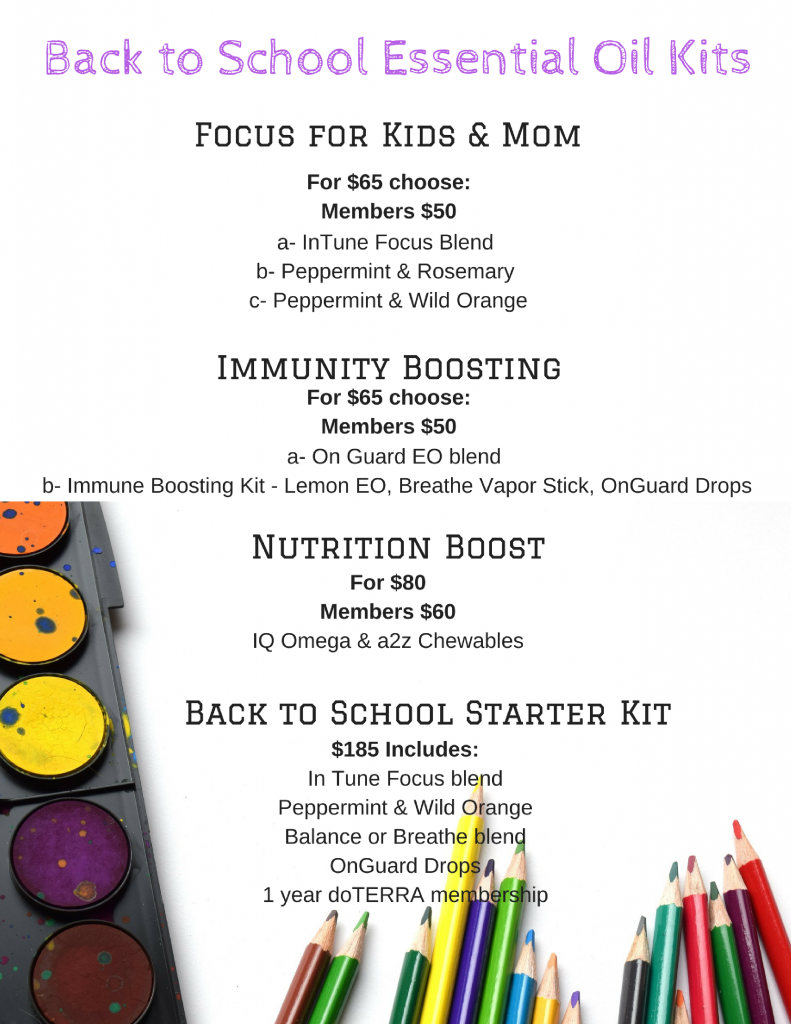 Back to School EO Kits